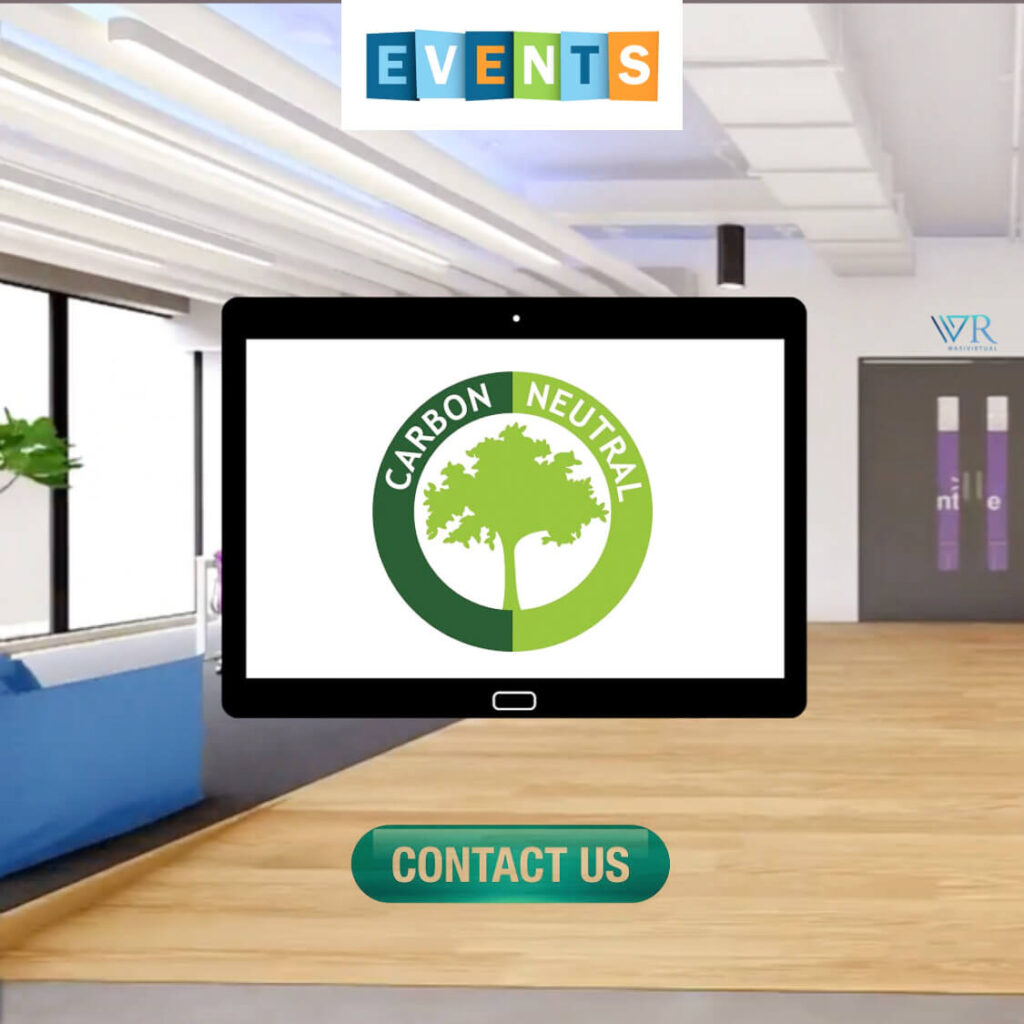 virtual 3D events impact on environment